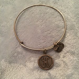 Alex and Ani K initial bracelet preowned